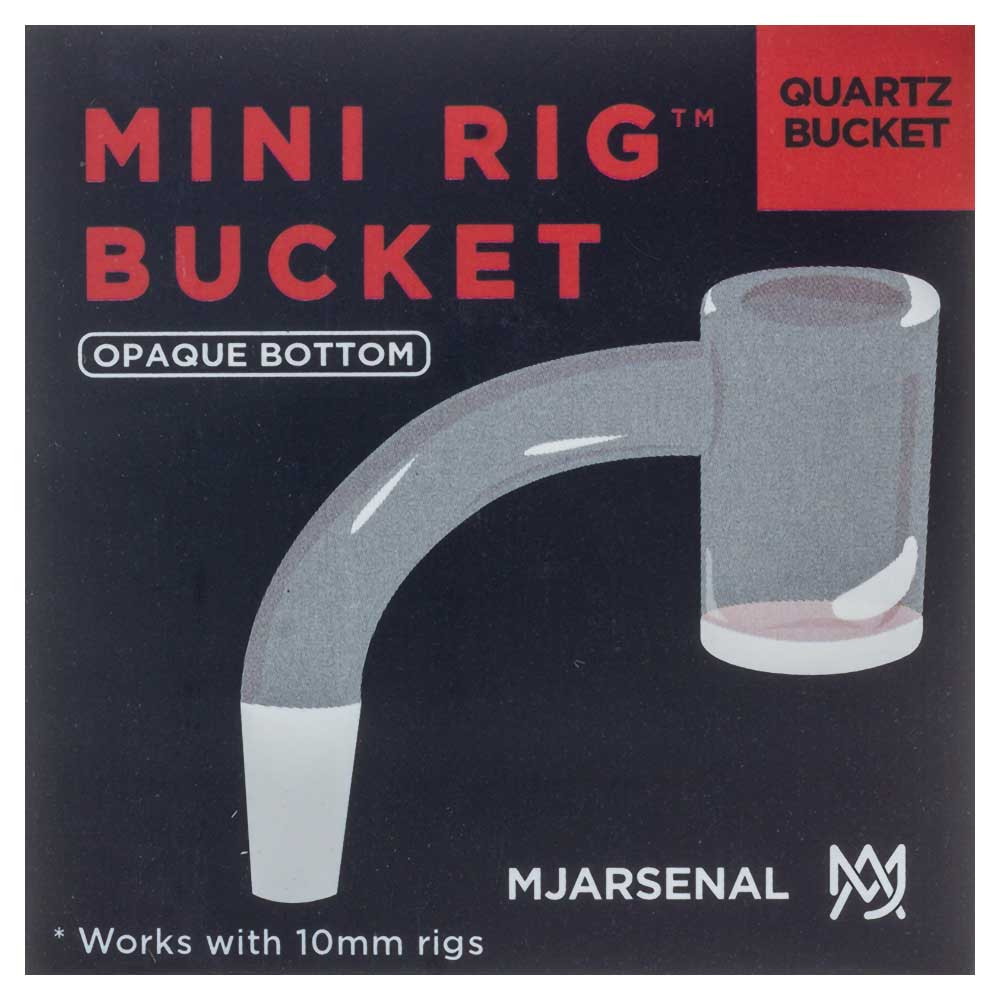 MJ Arsenal Custom 10mm Male Opaque Bottom Quartz Bucket