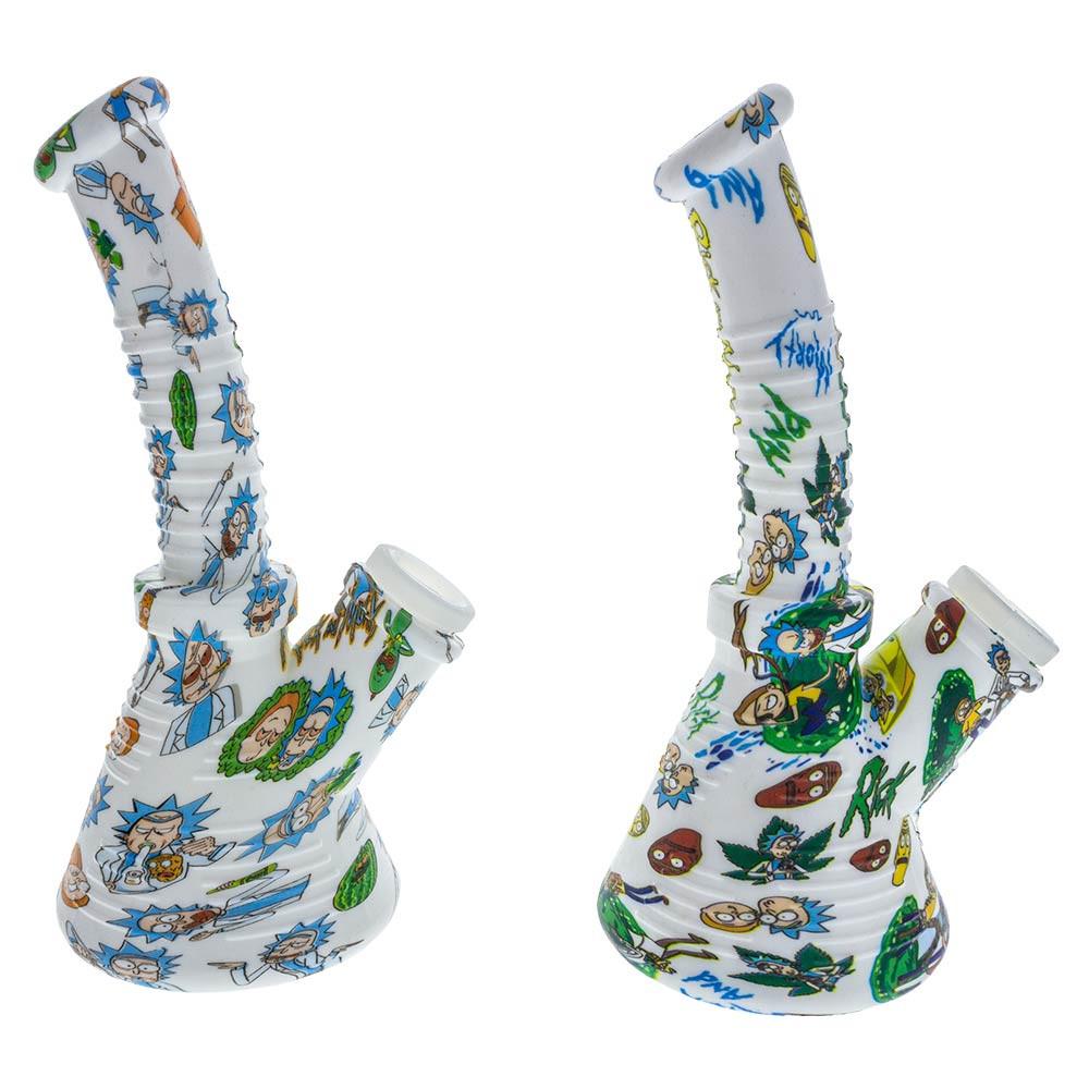 Mini Silicone Rick & Morty Beaker Waterpipe