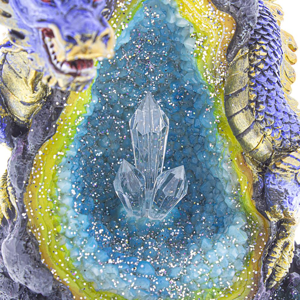 Blue Dragon Crystal Backflow Burner crystal view