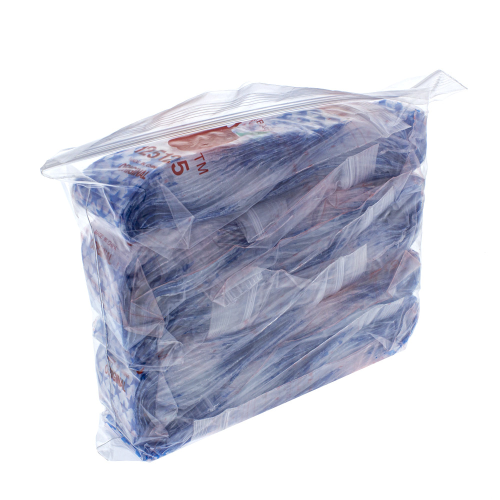 Each order is for 1,000 bags. The individual bags are packaged in 10 bags of 100, which are all then packed inside of one large bag.