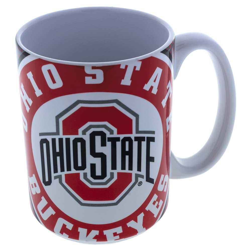 Ohio State Buckeyes Dot Pattern Ceramic Mug