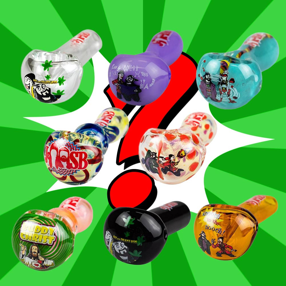 Jay & Silent Bob Mystery Pipe Exclusive pipe colors and styles