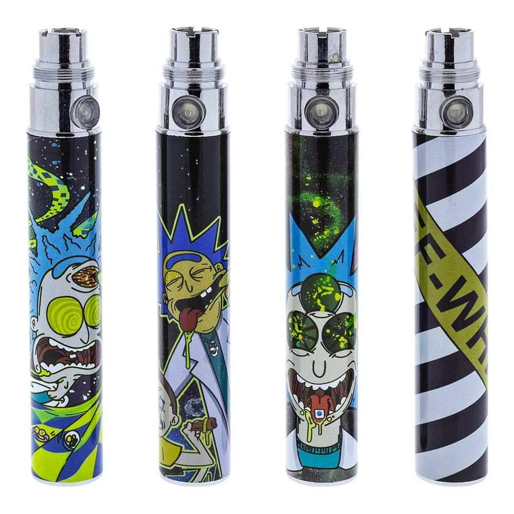 Assortment of Rick and Morty Vape Pen Batteries.
