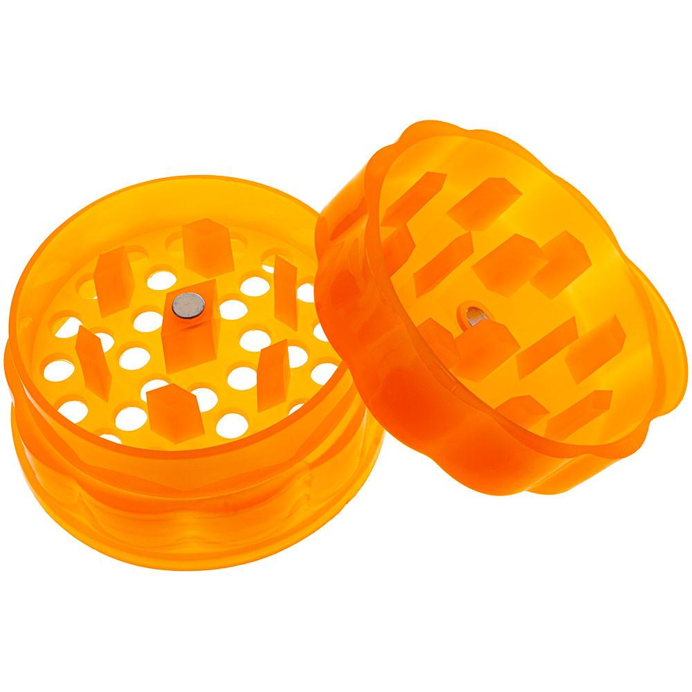 Plastic grinder portion apart from the stash jar.