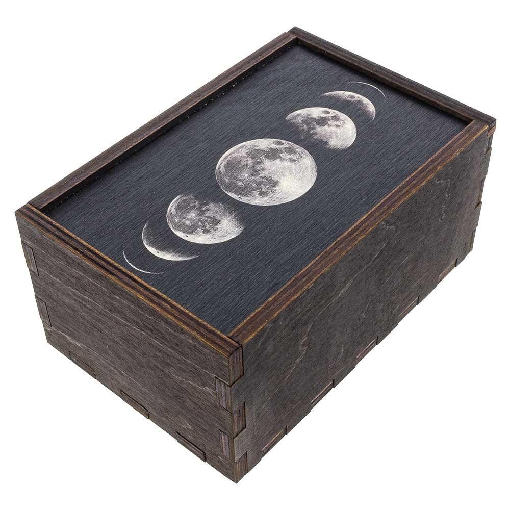Closed Moon Phases medium stash box quarter view.