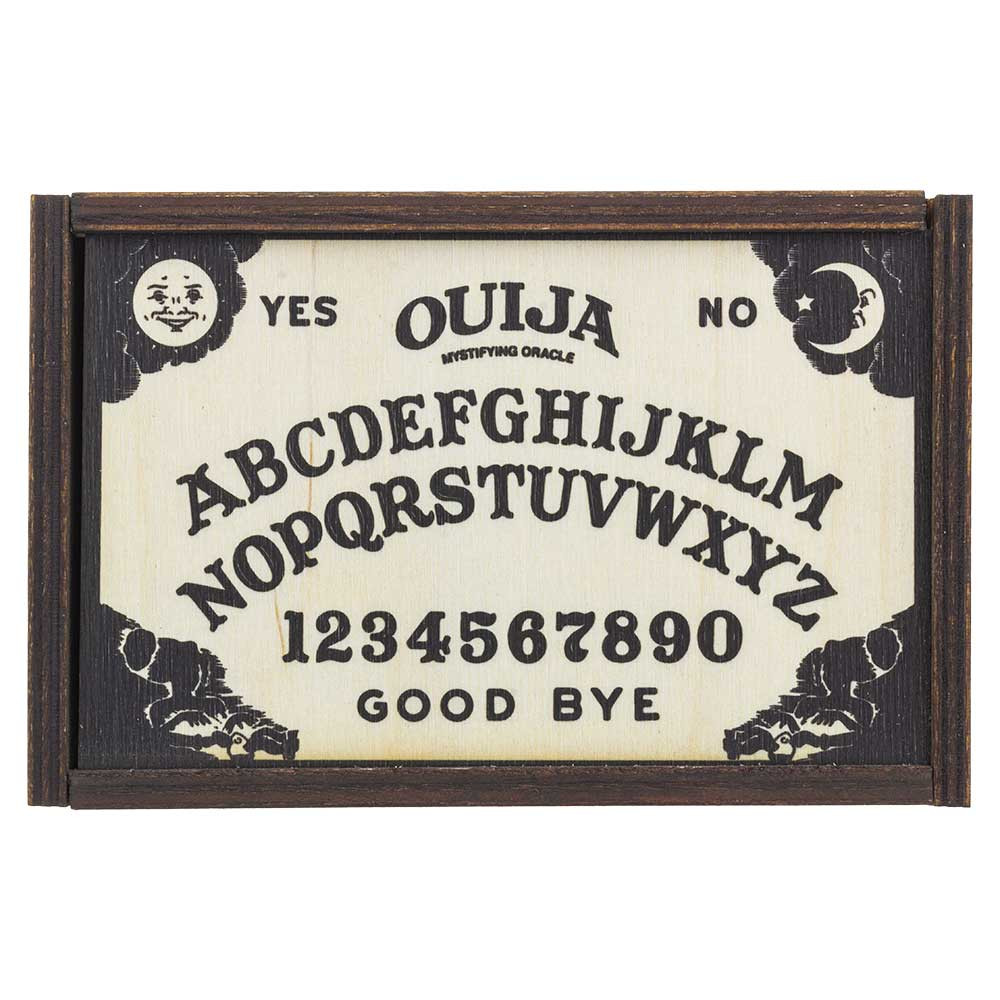 Top view of Ouija Board medium stash box.
