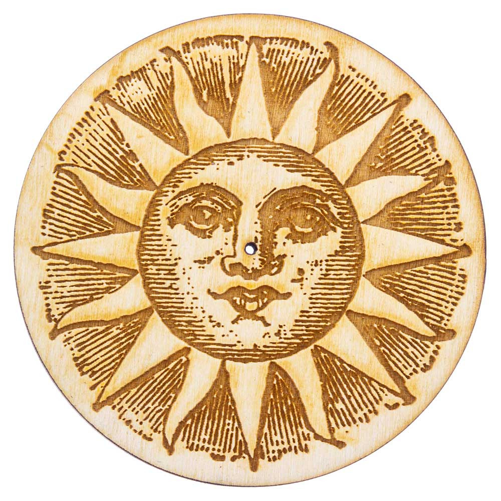 Sun Incense Tray Top View