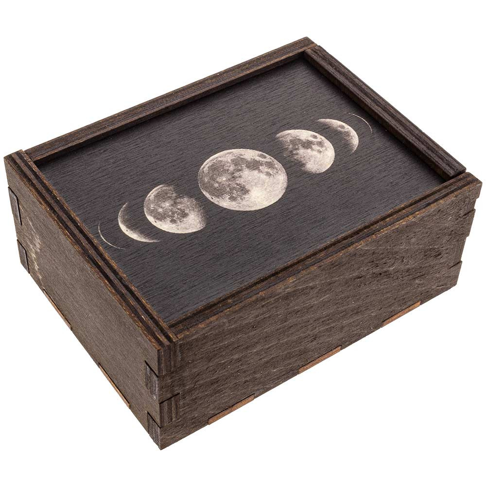 Quarter view of the Moon Phases storage box.