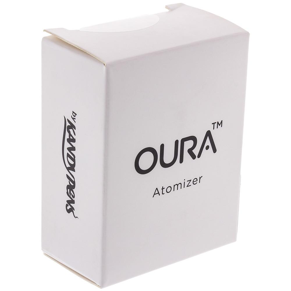 Quarter view of the Oura Atomizer's box.