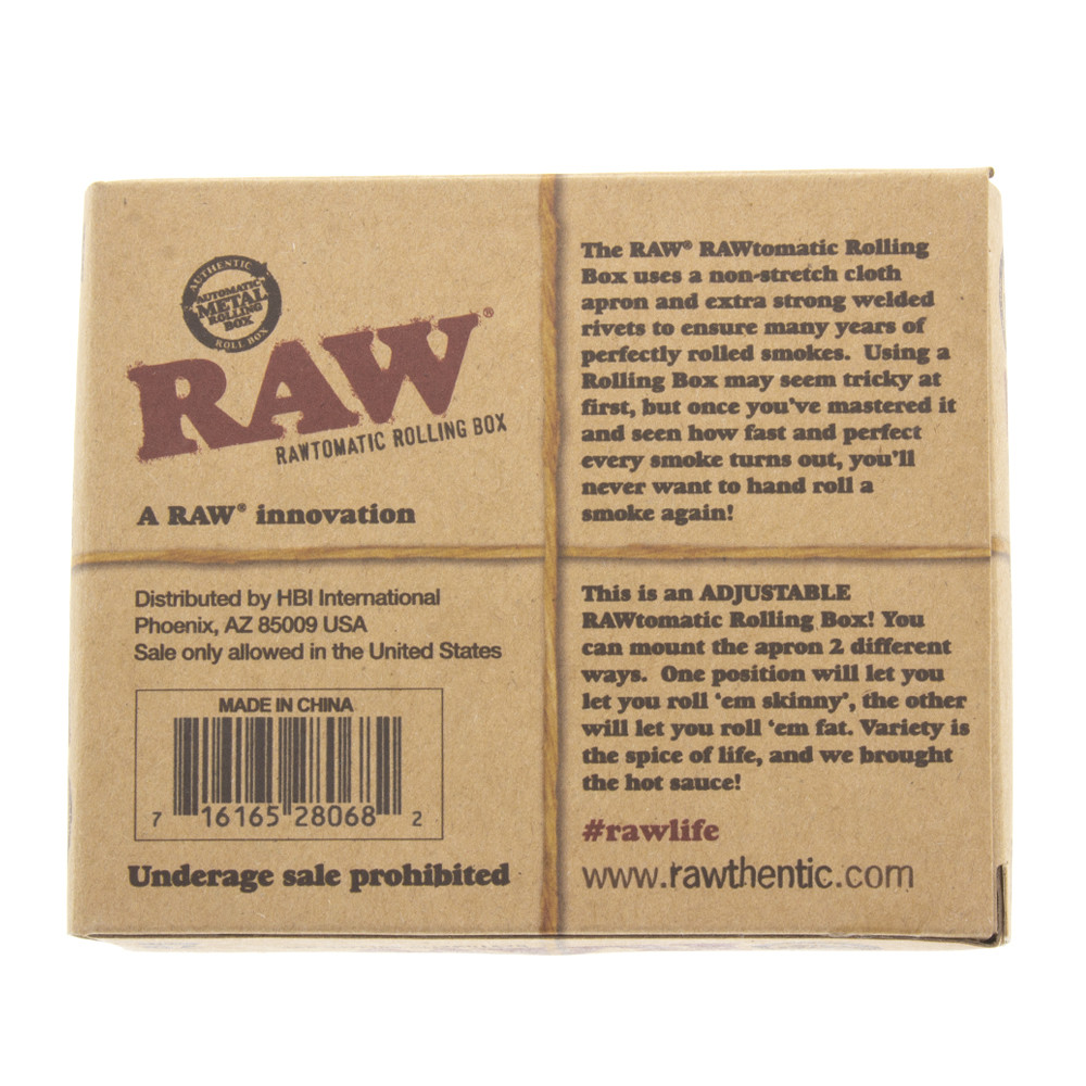 Back view of the boxed Raw auto roller for 79mm papers.