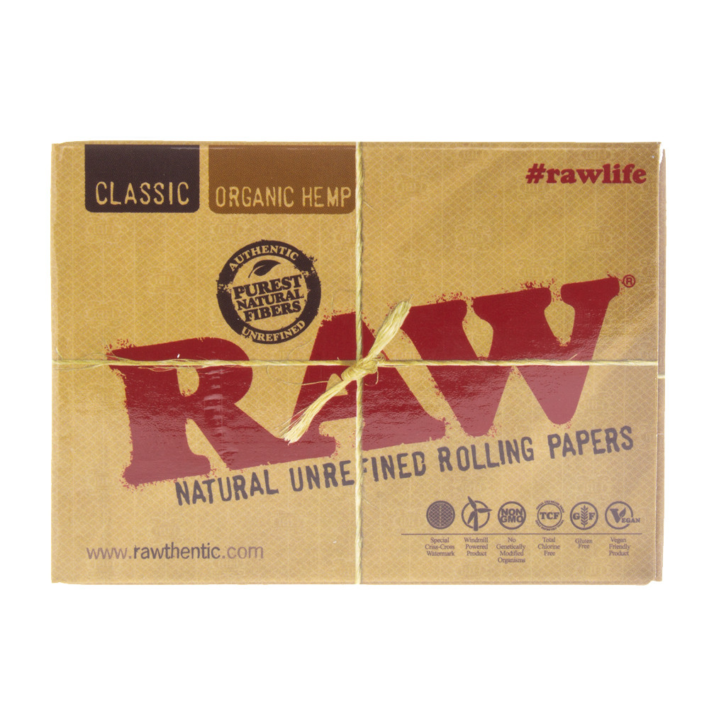 boxed Raw rolling paper playing cards.