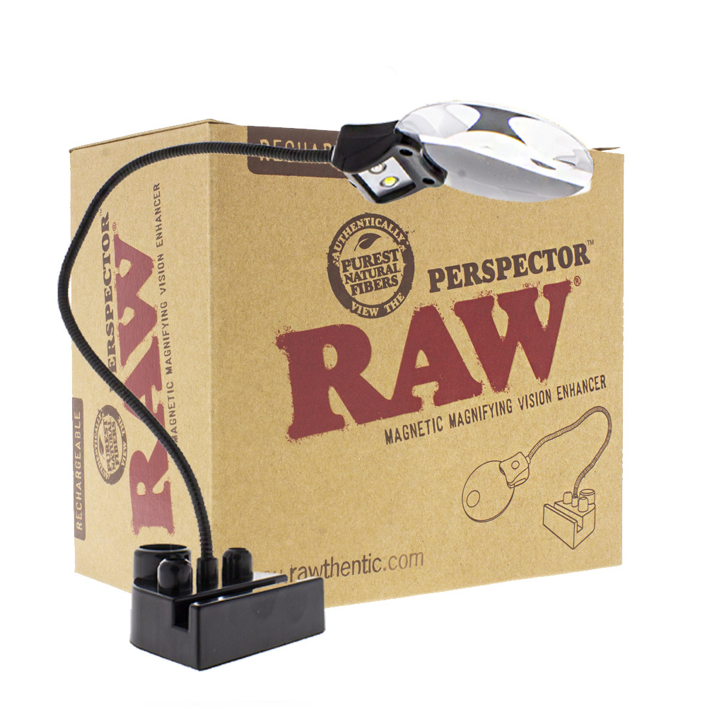 Raw perspector magnetic magnifying glass with box.