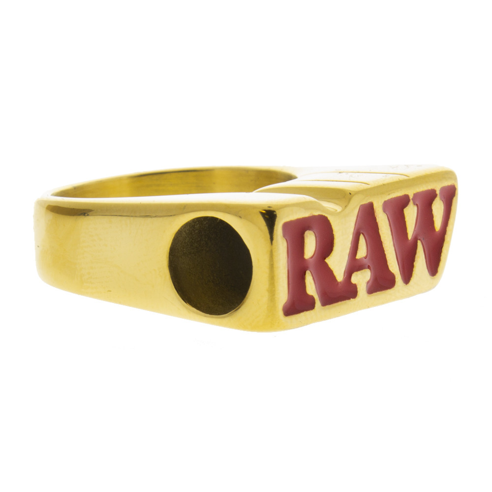 Place your rolled joint or cigarette into the larger hole of the Raw gold smoker.