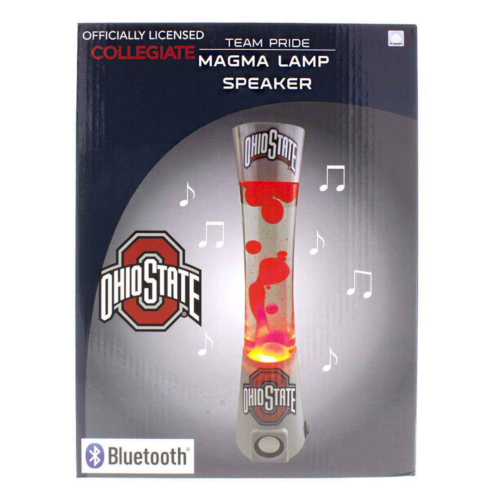OSU Ohio state college buckeyes lava lamp and bluetooth speaker boxed.
