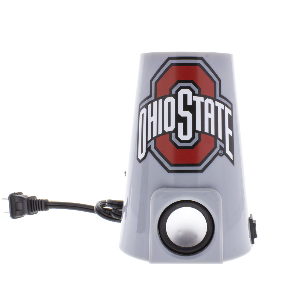 Up close view of the Bluetooth speaker that comes built in to every Ohio State University lava lamp.