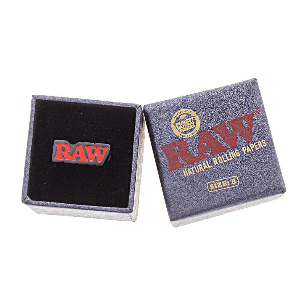 Boxed black Raw smoker ring.