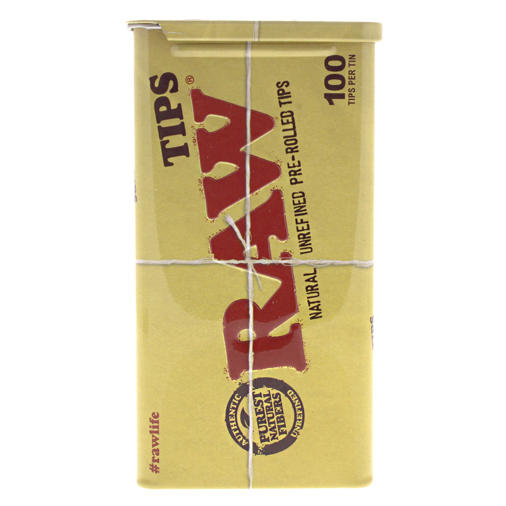 Safely store your Raw pre rolled tips in this metal tin.