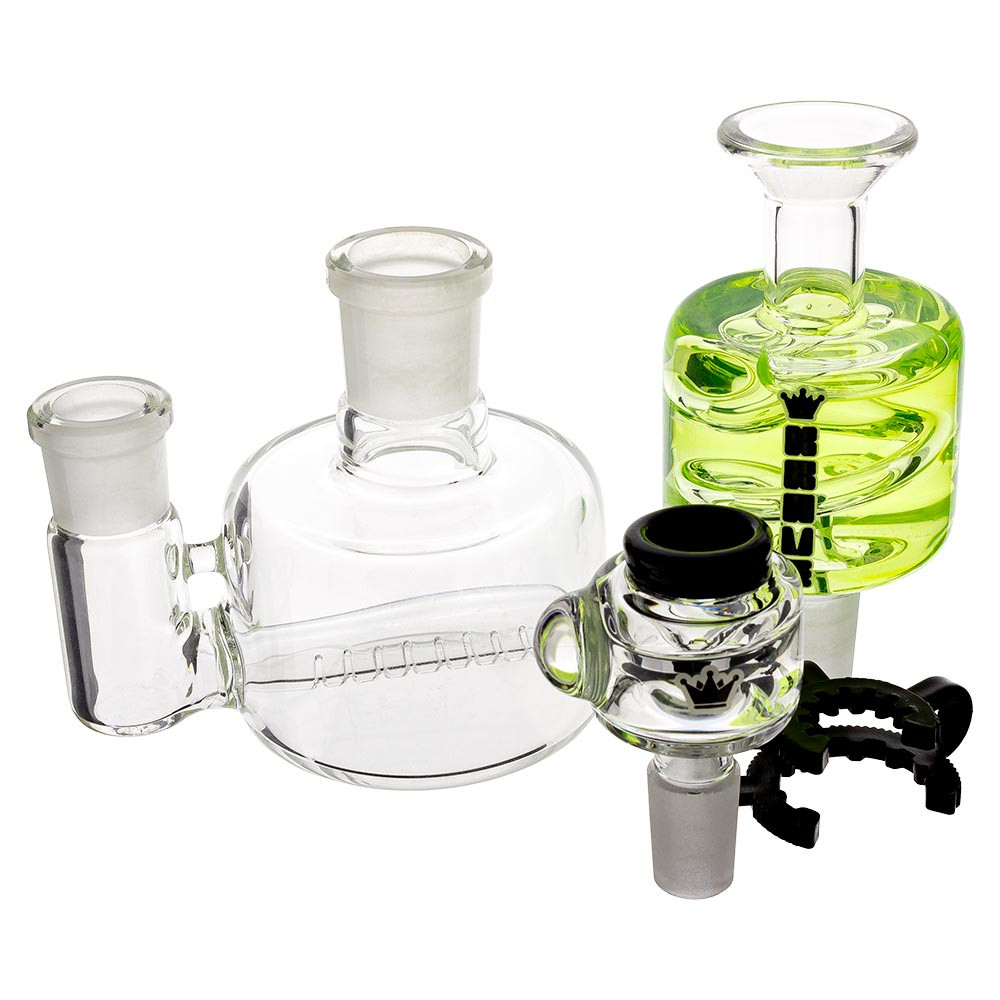 The Mini Bong disassembled into all of its individual pieces.