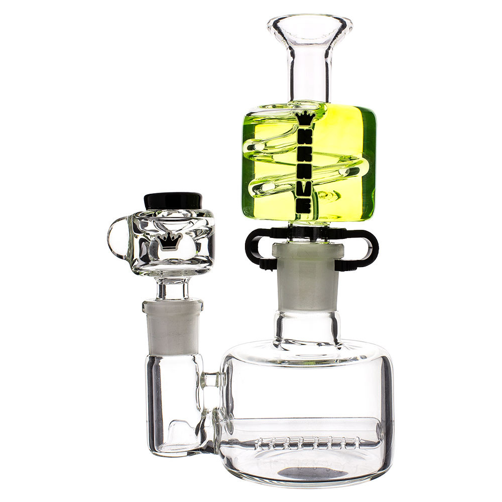Profile view of this Krave Mini Glycerine Bong.