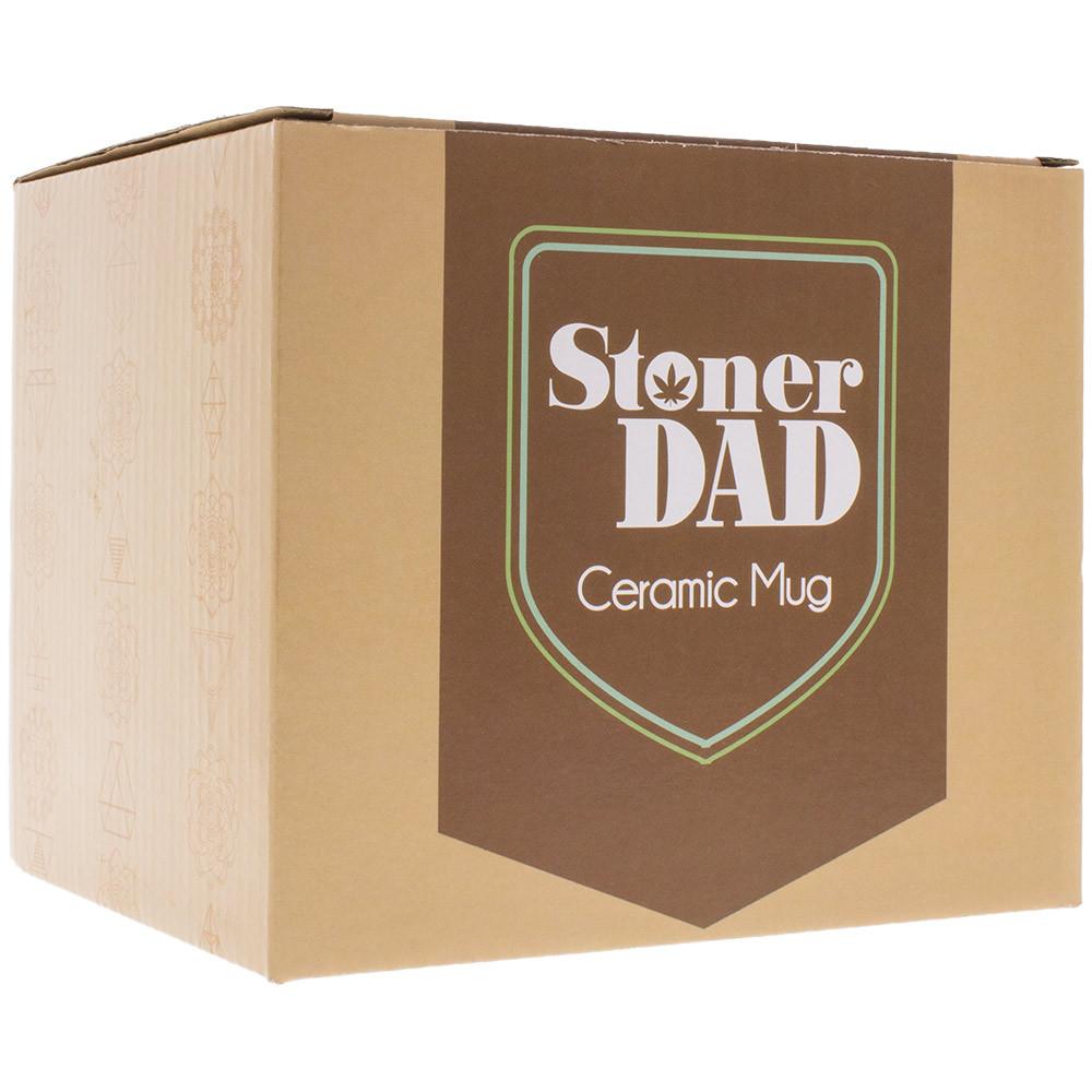 Each Stoner Dad Ceramic Mug is individually packaged.
