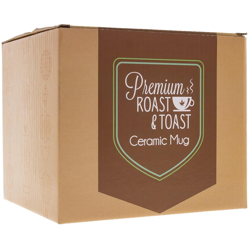 Each Stoner Mom Ceramic Mug is packaged individually in a Premium Roast & Toast box.