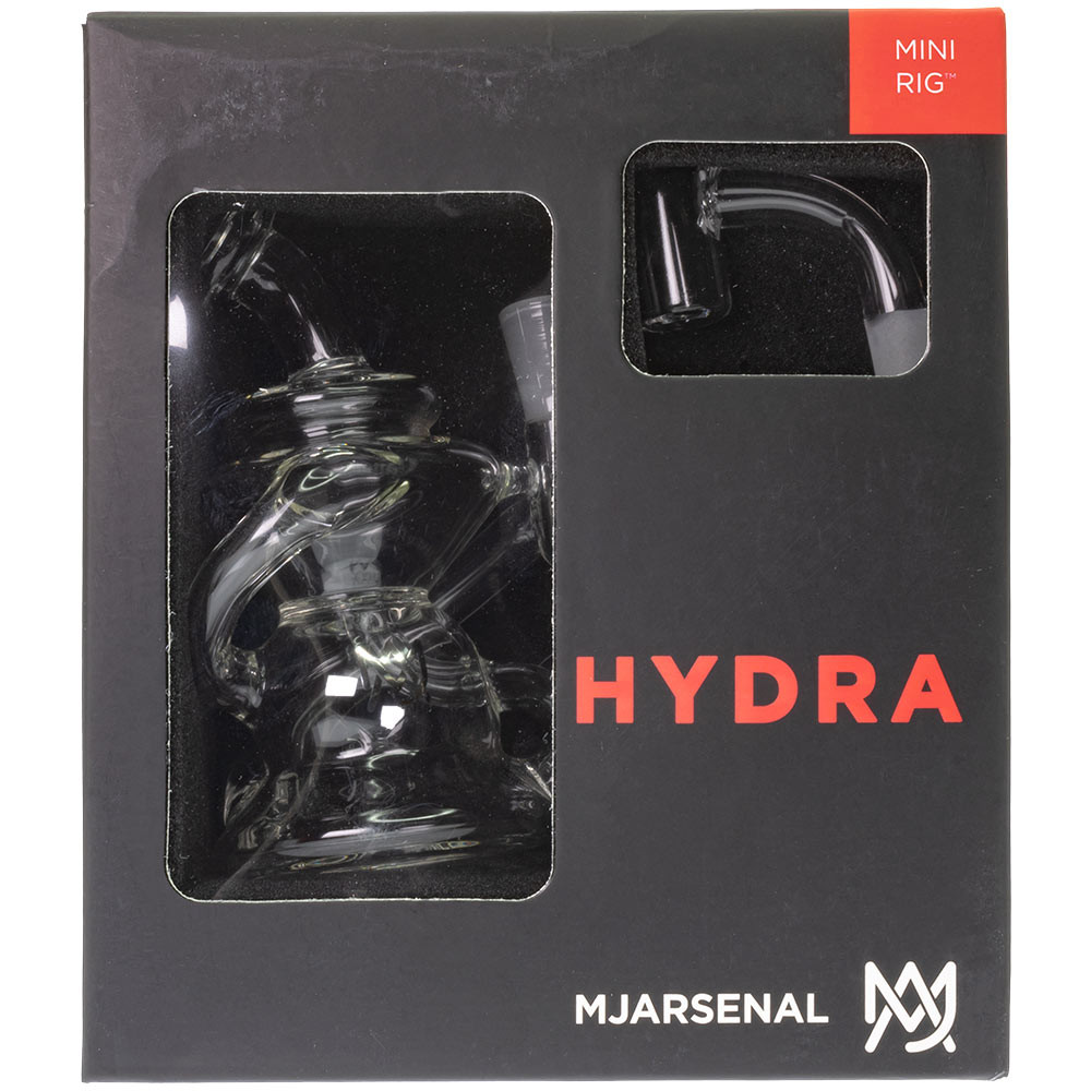 Individually packaged Hydra Mini Rig in a collectible display box.