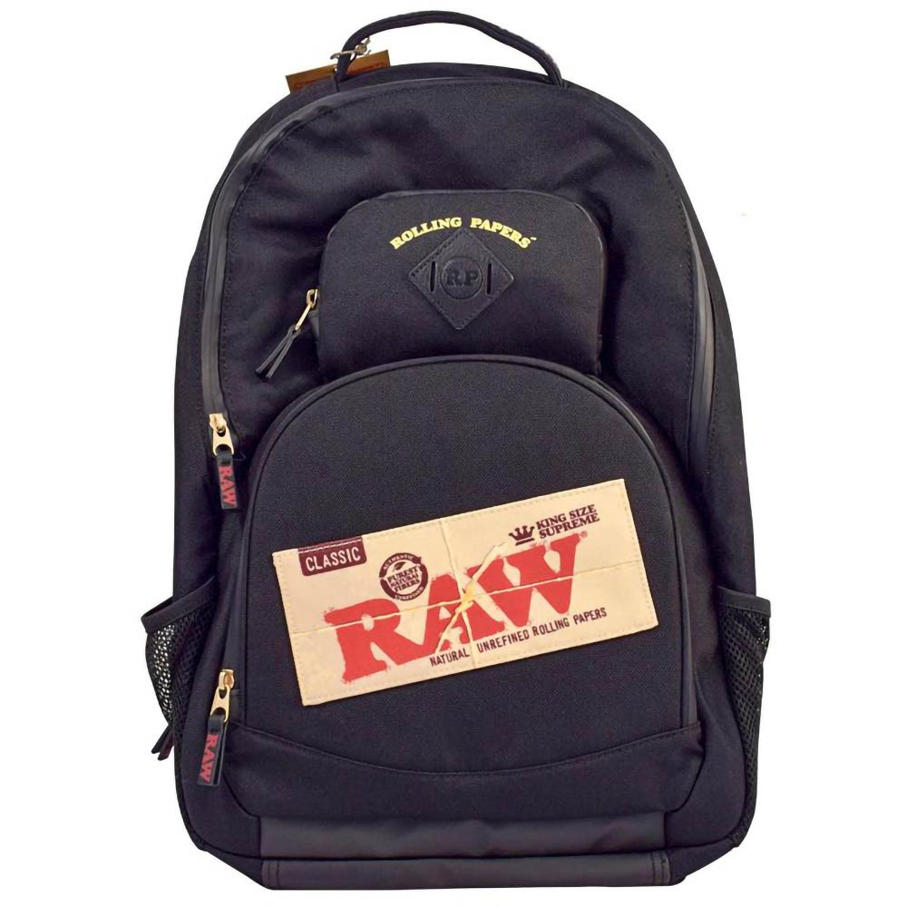RAW Smokers Smell Proof Bakepack, Backpack Black