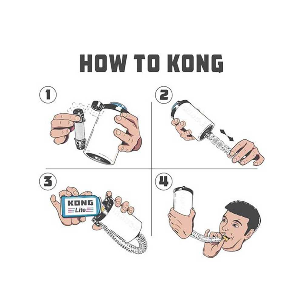 Instructions on How to Kong, turning the Kong Can Cooler into a Beer Bong.