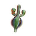 Multicolor Glass Cactus Airflow Bubble Carb Cap