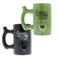 Roast & Toast Coffee Mug in green or black