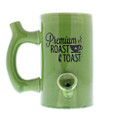 Roast & Toast Coffee Mug green coffee mug