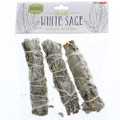"White Sage 4"" Bundle, 3-Pack"