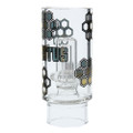 Stratus Silicone Tube with Honeycomb Pattern, Bees, and Shower Perc Bubbler stem