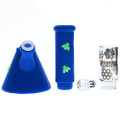 Stratus Silicone Tube with Honeycomb Pattern and Glass Insert