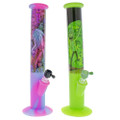 """Assorted 14"""" Rick and Morty Graphic Silicone Bongs."""