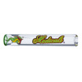 American made Medicali glass chillum with rasta colored logo and deep bowl.