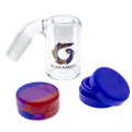 Collect any unused concentrates with the glas house silicone and glass reclaimer boxed kit.