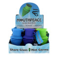 Eyce silicone sanitary mouth piece with lanyard for when you want to share glass, not germs. Comes in a 9 piece assorted color display.