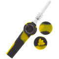 Stratus Trio 3-in-1 Pipe & Nectar Collector with Storage, in Black & Yellow.
