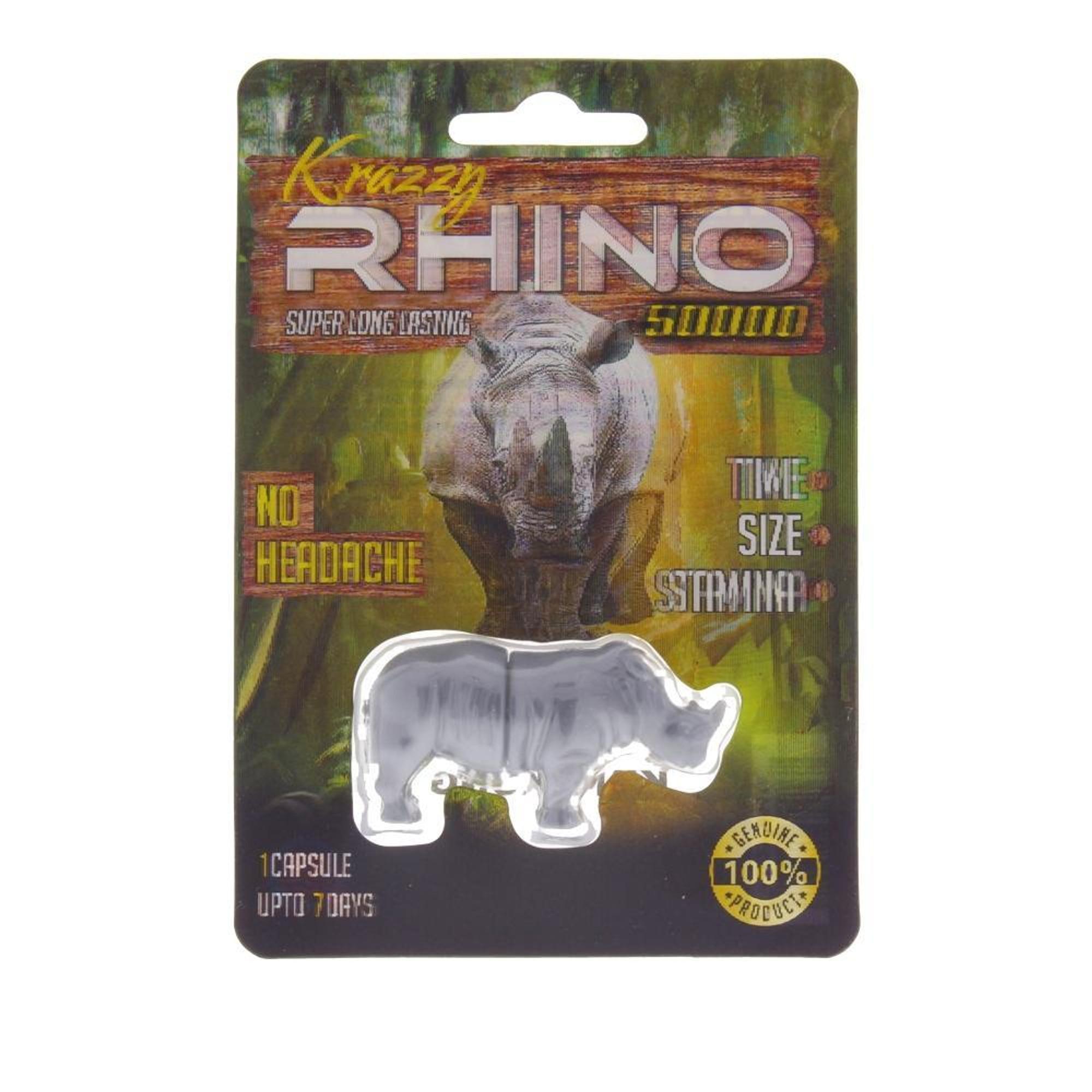 Krazzy Rhino 50 000 Male Enhancement Supplement