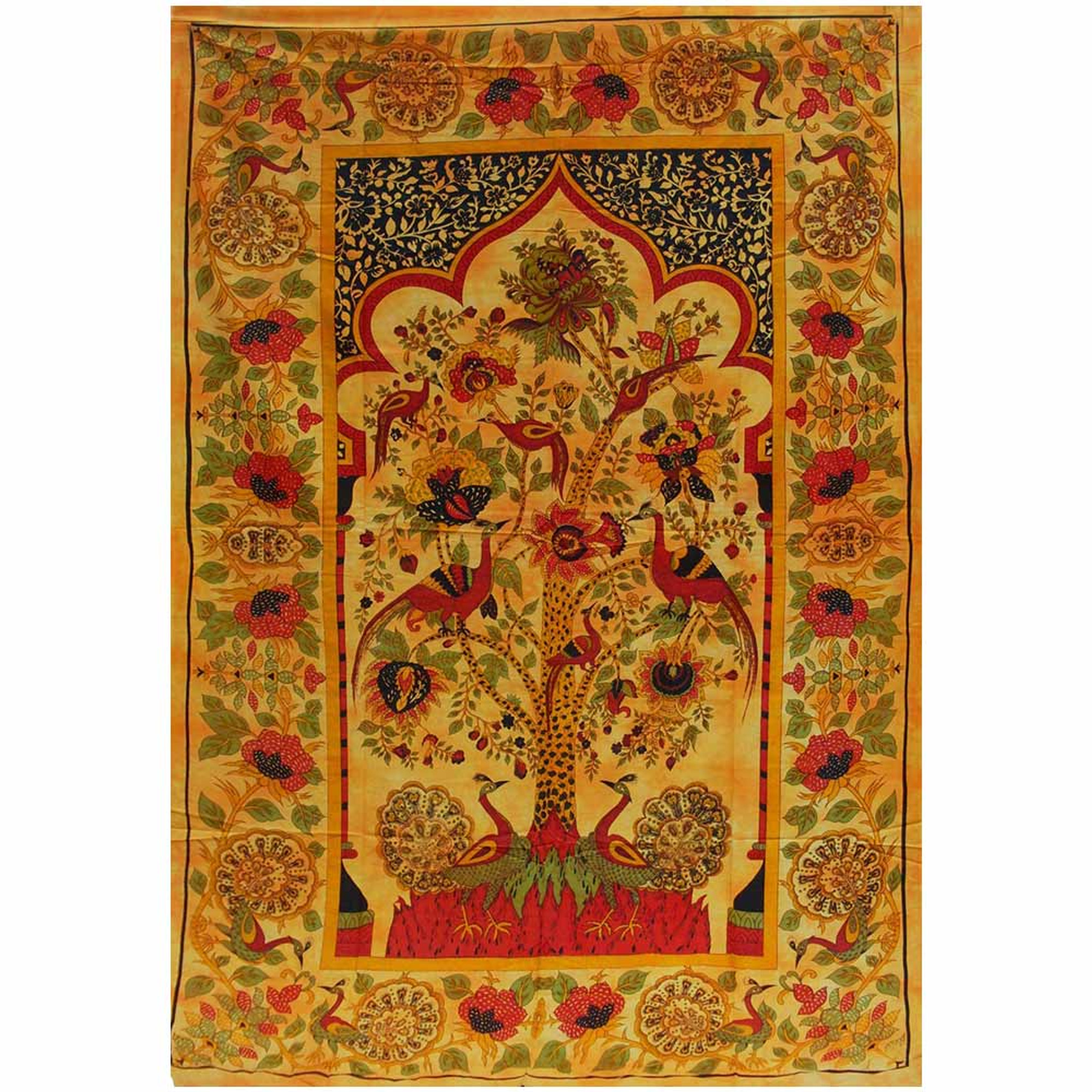 Temple Tree Of Life Tapestry Authentic Indian Print