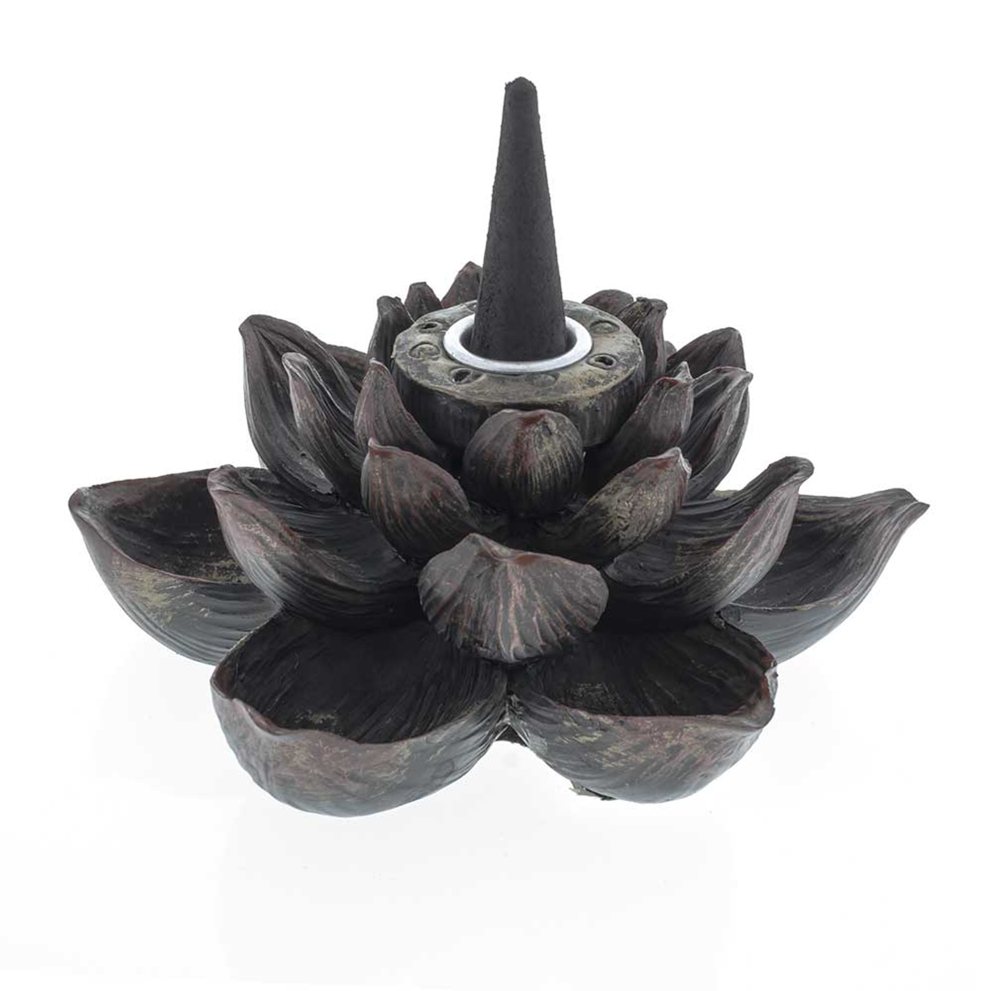 Lotus Flower Backflow Incense Burner For Backflow Cones