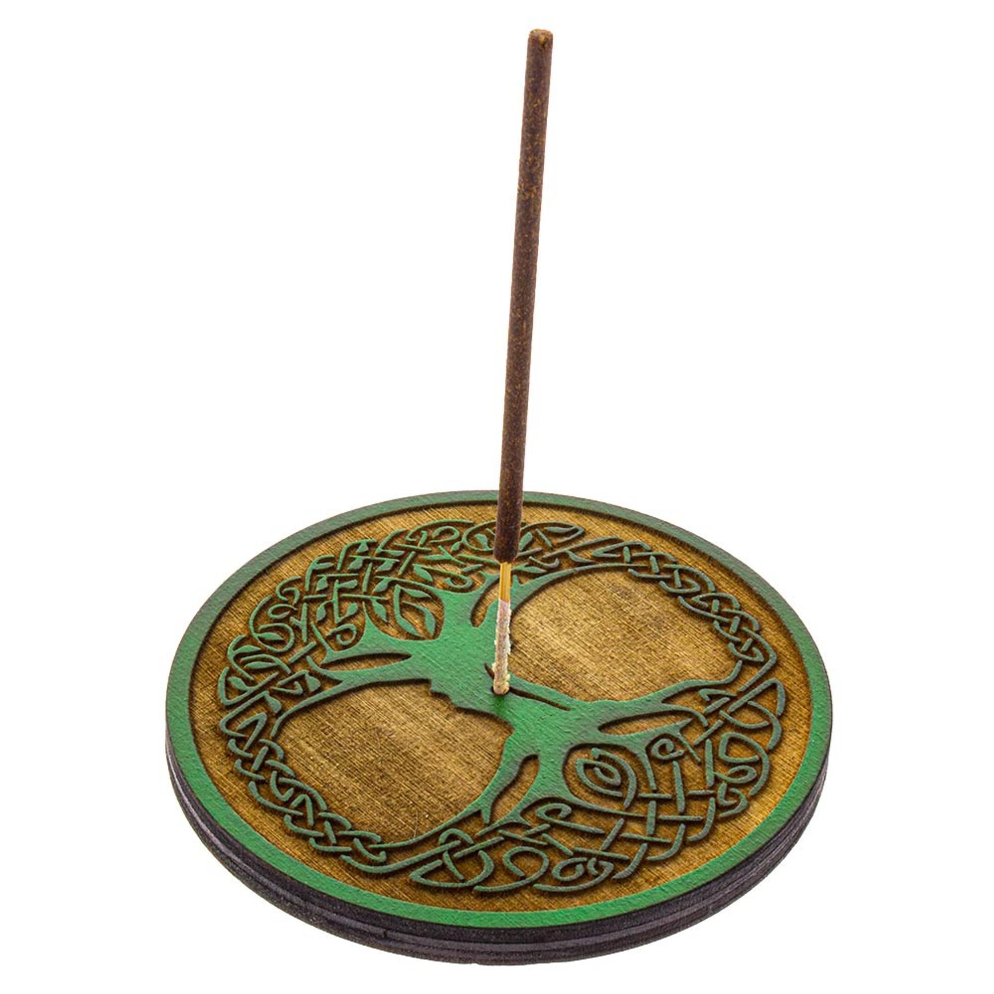 Tree Of Life Incense Burner Round Stick Incense Holder