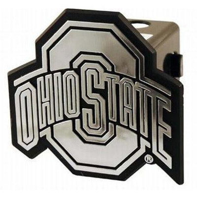 Ohio State Trailer Hitch Cover in chrome or silver cover