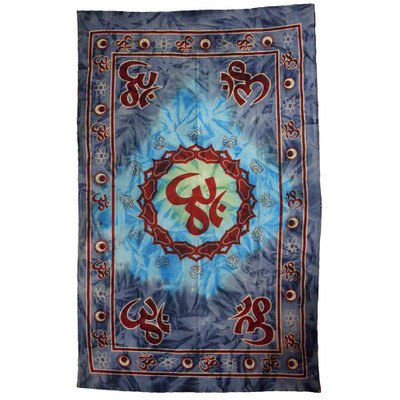 Front, full view of this Full Size Ohm Lotus throw blanket.