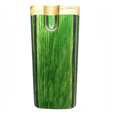 Front view of a Diamond Wood Swivel Dugout in Green.
