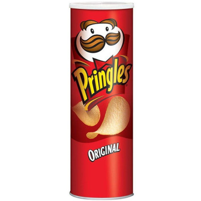 Front view of a closed Pringles Can Safe, looking just like a can of Original style Pringles.