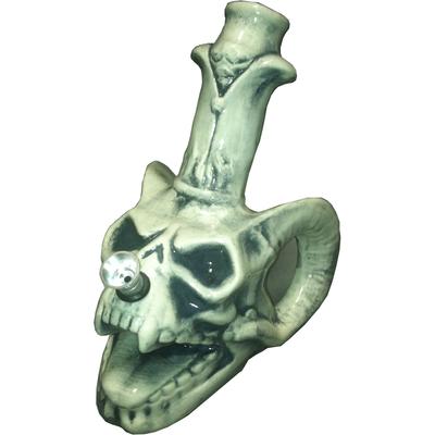 Ceramic Demon Skull Bong