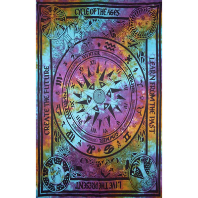 Rainbow print on this Life Cycles Full Size Tapestry.