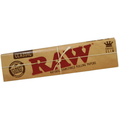 A single pack of Raw Classic King Size Slim Rolling Papers.